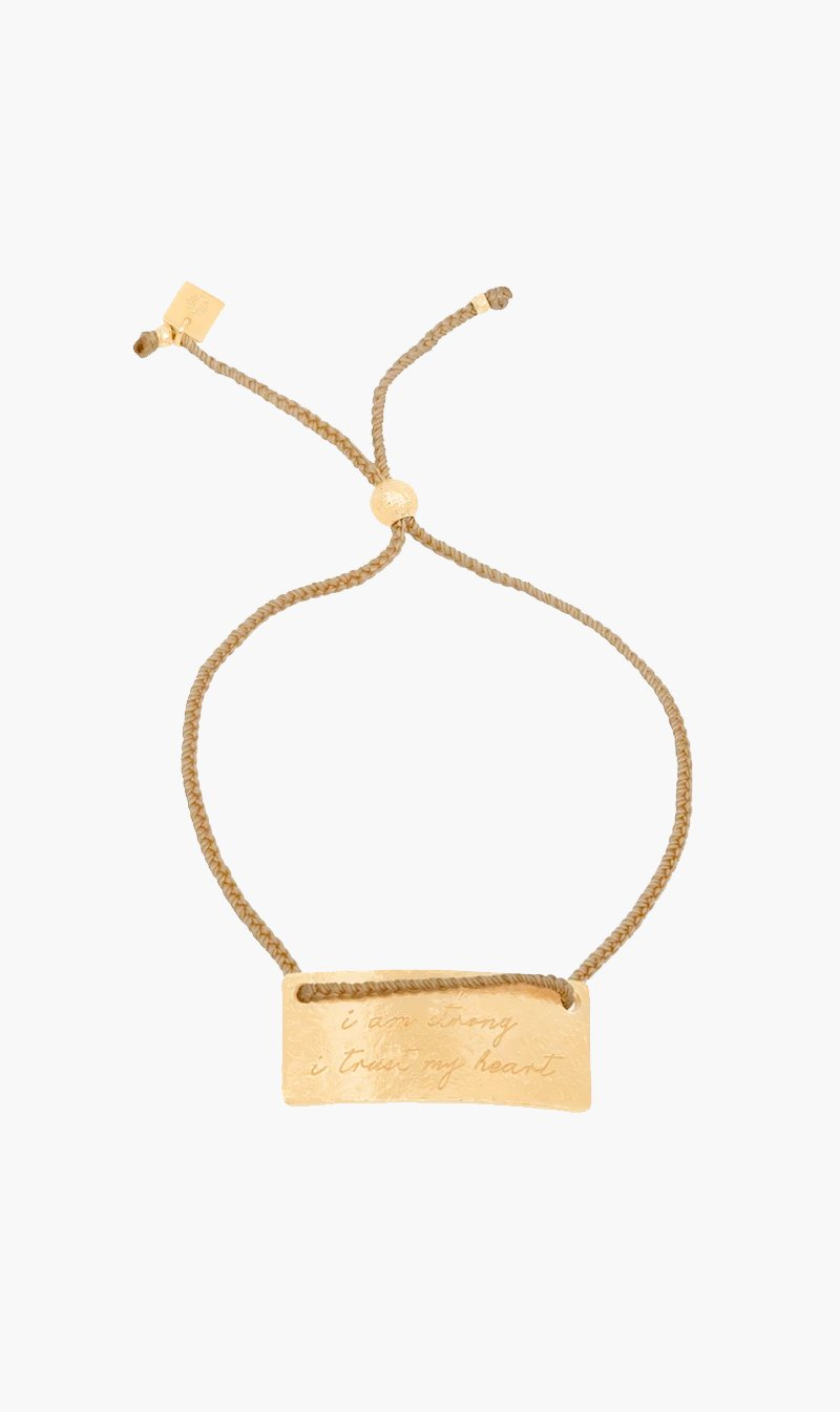 By Charlotte Jewellery GOLD By Charlotte | Taurus Cord Zodiac Bracelet - Gold