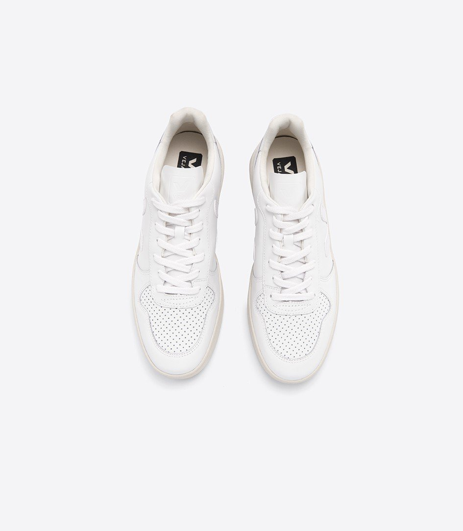 Good As Gold Distribution SHOE Veja | V10 Leather Sneakers -  Extra White