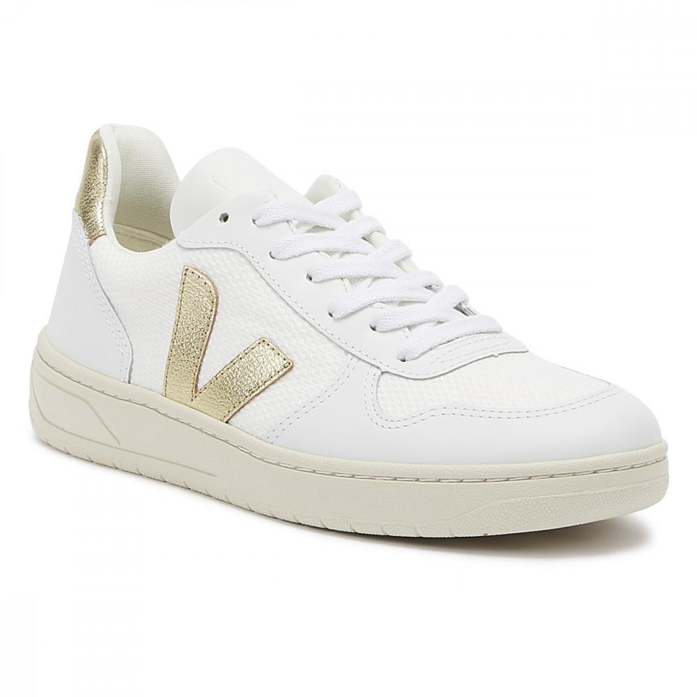 Good As Gold Distribution SHOE Veja | V10B Mesh - White/Gold