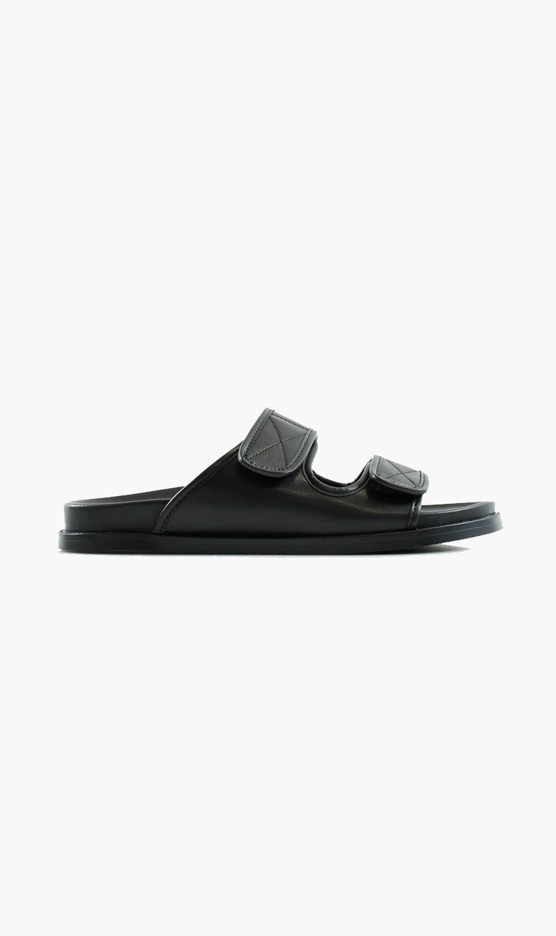 Summer Supply Ltd SHOE La Tribe X Sisters&Co | Velcro Moulded Slide - Black