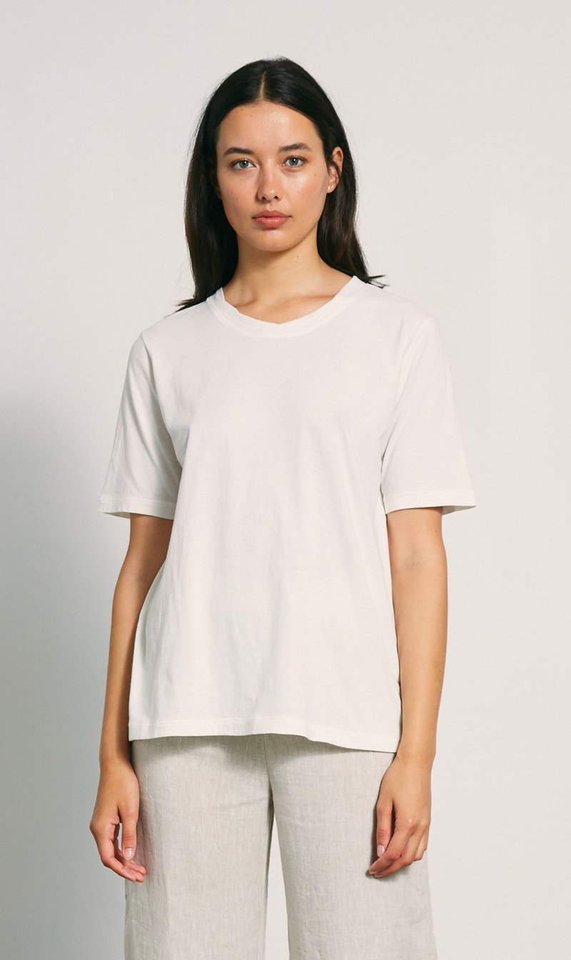 The Market Limited Womens T Shirt Marle | Simple Tee - Ivory