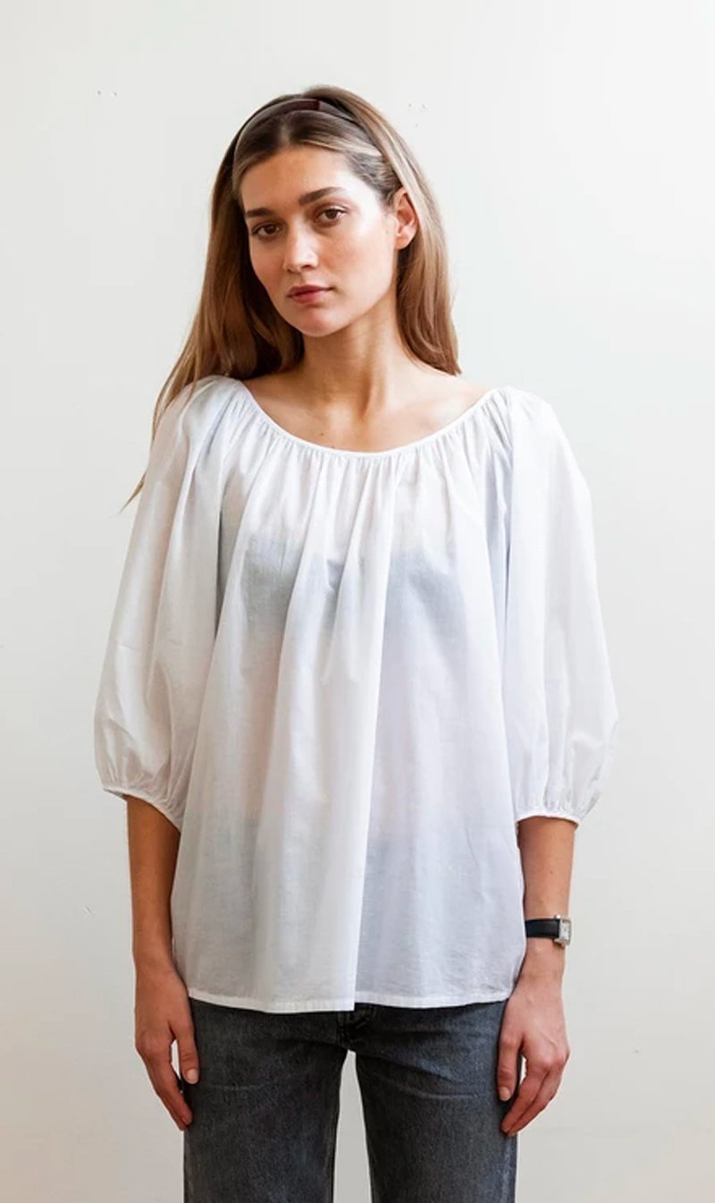Mahsa Limited Womens Tops Mahsa | Ballet Blouse - White