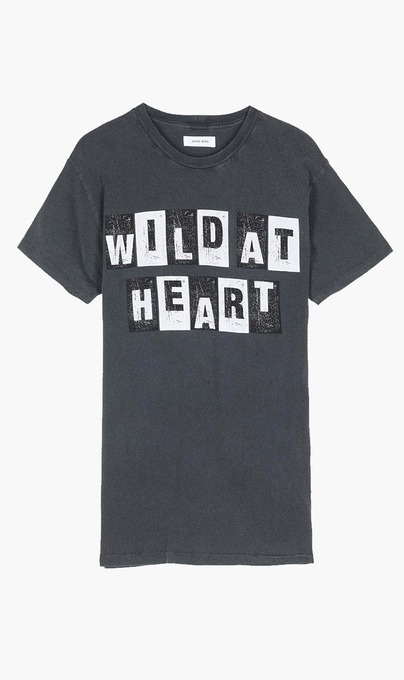 Anine Bing Womens T Shirt Anine Bing | Wild Heart Vintage Tee - Washed Black