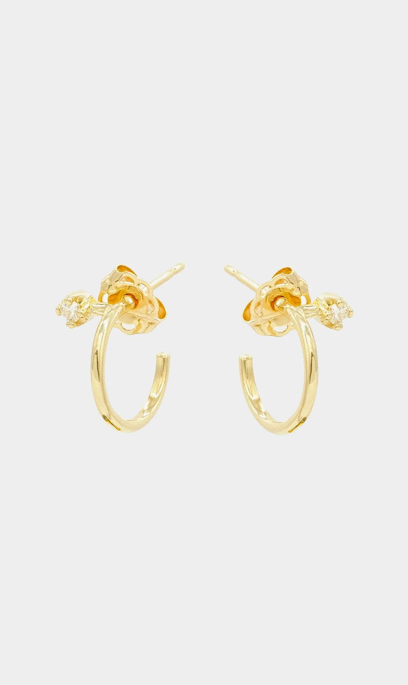 Natasha Schweitzer Jewellery YLWGLD Natasha Scweitzer | Mini Lara Diamond Earring - Yellow Gold