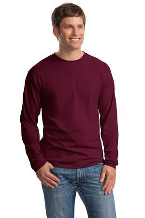 Hanes Beefy T 100% Cotton Long Sleeve T Shirt. 5186