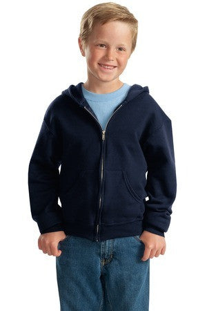 Jerzees Youth NuBlend Full Zip Hooded Sweatshirt. 993B