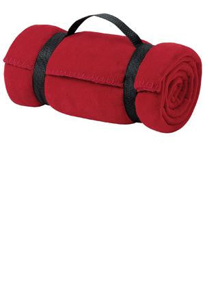 Port & Company Value Fleece Blanket with Strap. BP10