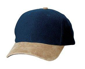 Port Authority Two Tone Brushed Twill Cap with Suede Visor. BTS