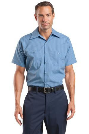 CornerStone Short Sleeve Striped Industrial Work Shirt. CS20