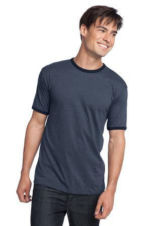 District Young Mens Cotton Ringer Tee. DT125