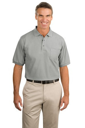 Port Authority Silk Touch Polo with Pocket. K500P