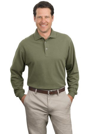 Port Authority Long Sleeve Pique Knit Polo. K320