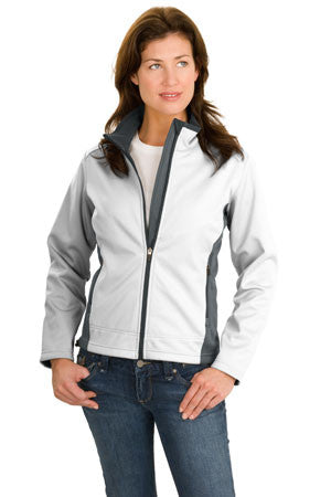 Port Authority Ladies Two Tone Soft Shell Jacket. L794
