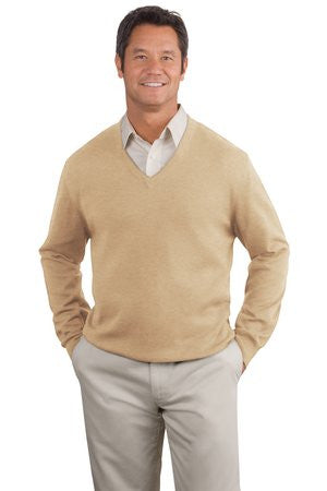 Port Authority Fine Gauge V Neck Sweater. SW275