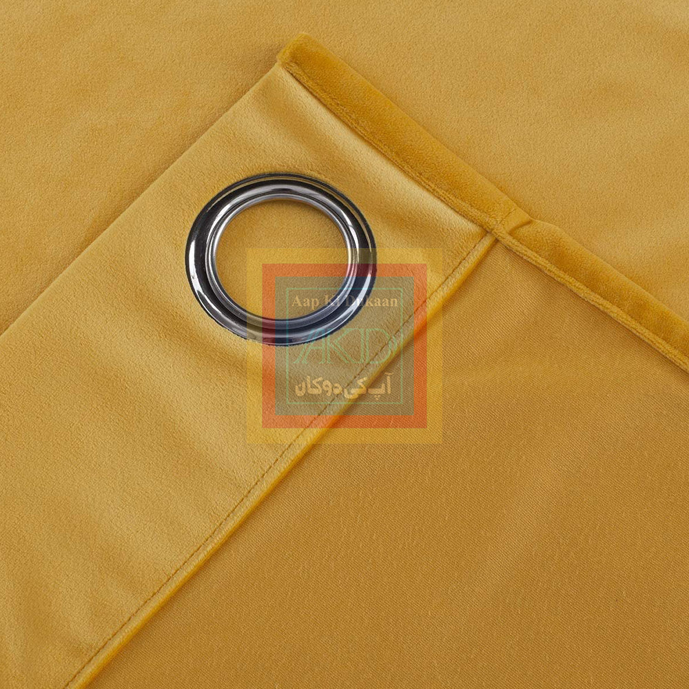 Velvet Curtain (Yellow)