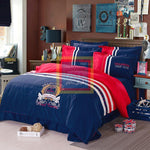 Oxford Duvet Set Blue and Red