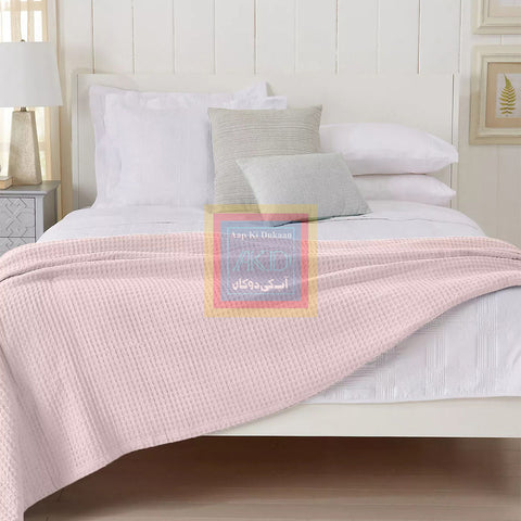 Waffle Weave Blanket (pink)