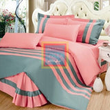 Stripe Duvet Set (Pink with Grey)