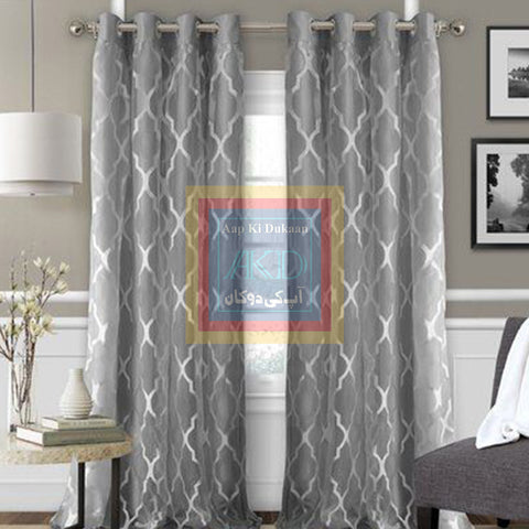 Printed Curtain Light Grey