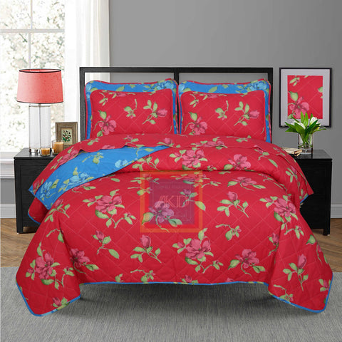 Printed Bedspread With Reversible Print 03