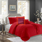 Twisted Duvet Set (Red)
