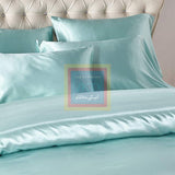 Light Blue Silk Duvet Set