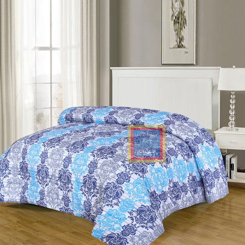 Printed Comforter (Blue)