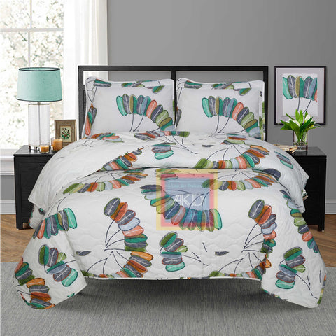 Printed Bedspread With Reversible Print 04