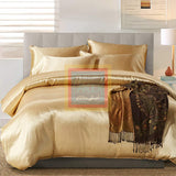 Golden Silk Duvet Set