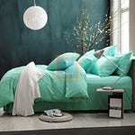 Pinch Pleat Duvet Set (Sea Green)