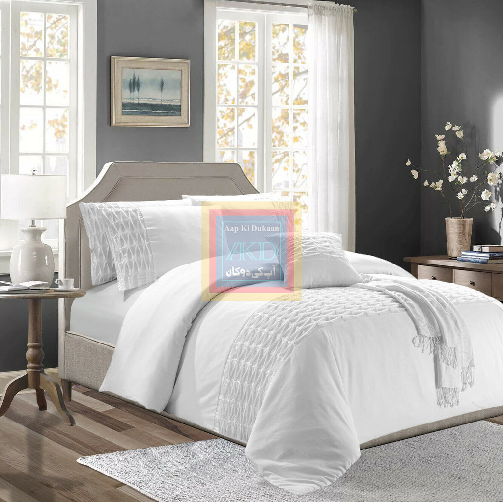 Twisted Duvet Set white