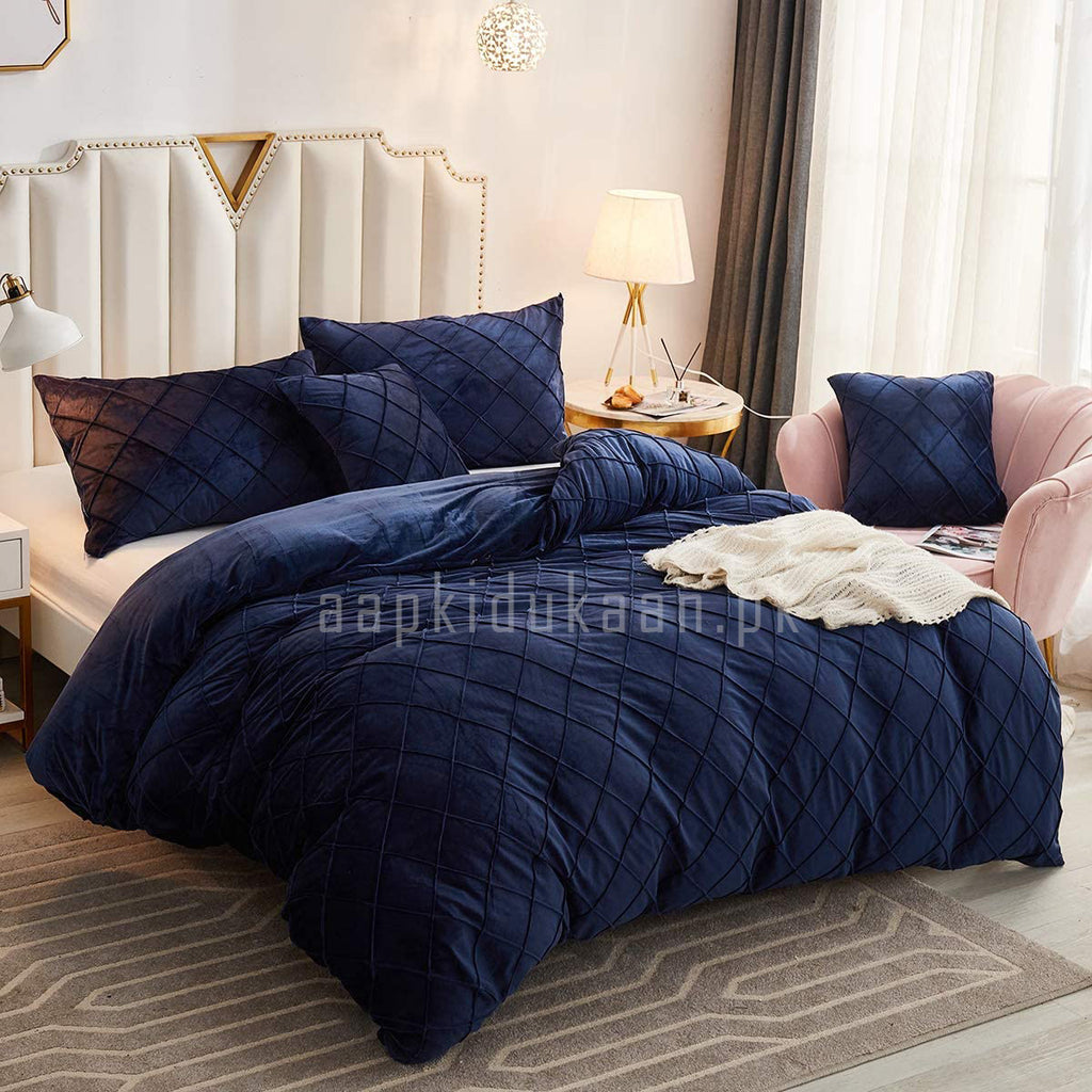 Luxury Pleated Duvet Set (Velvet)