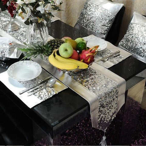 Silver Grey Table Runner