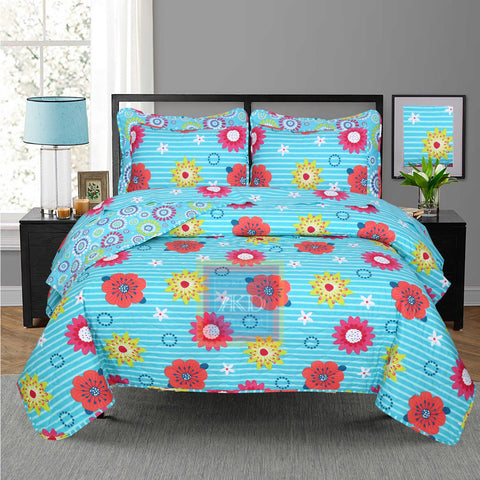 Printed Bedspread With Reversible Print 05