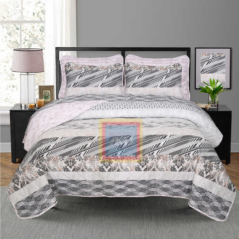 Printed Bedspread With Reversible Print 07