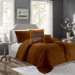 Twisted Duvet Set (Dark Brown)