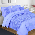 Embellish Comforter Set (Sky-Blue)