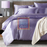 Purple Silk Duvet Set