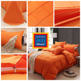Pinch Pleat Duvet Set (Orange)
