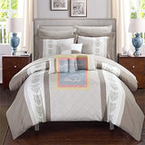 Luxury Pinch Pleat Duvet Set (Beige)