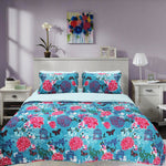 Printed Bedspread With Reversible Print 01