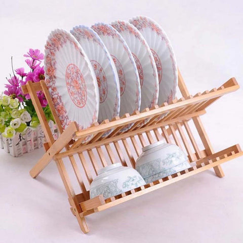 Natural Bamboo Dish Drying Rack