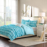 Ruffles Duvet Set (Blue)