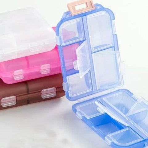 Portable Medicine drug Pill Box