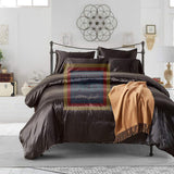 Black Silk Duvet Set