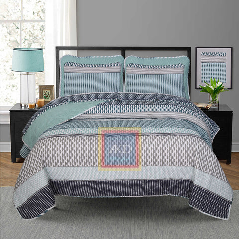 Printed Bedspread With Reversible Print 08
