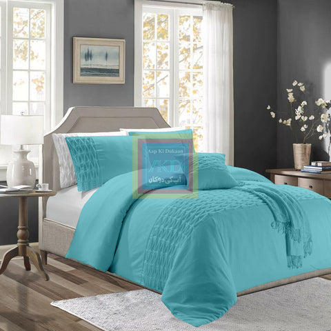 Twisted Duvet Set (Light Blue)