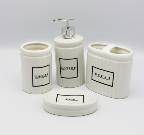 Bath Set White