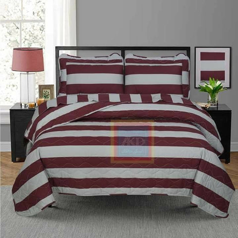Printed Bedspread With Reversible Print