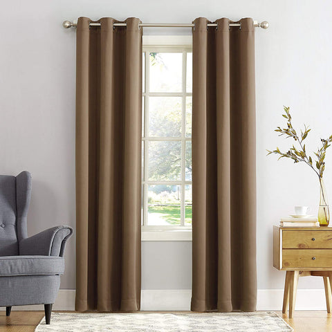 Cotton plain curtains with eyelet